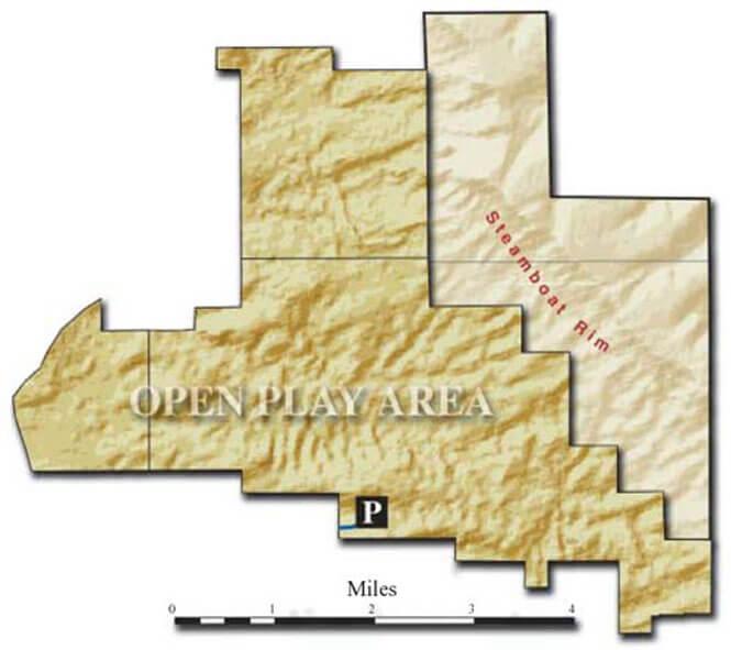 Killpecker Sand Dunes ATV Trails Map