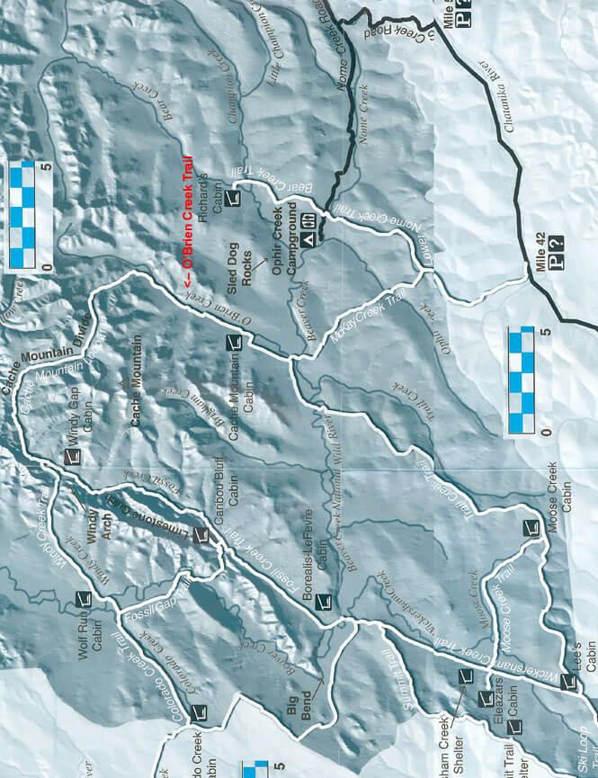 O'Brien Creek Trail Mountain Biking Map