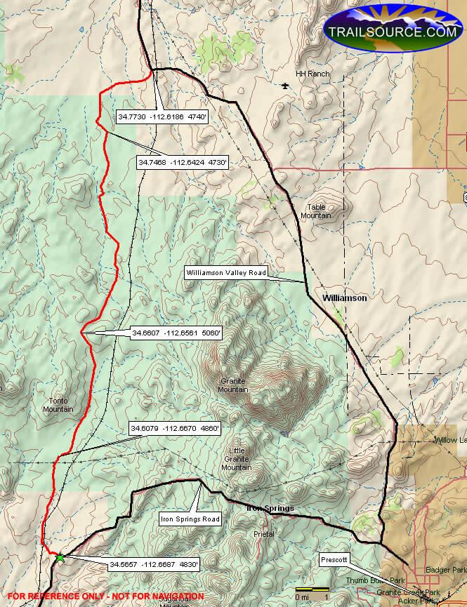 Tonto Wash Trail ATV Trails Map