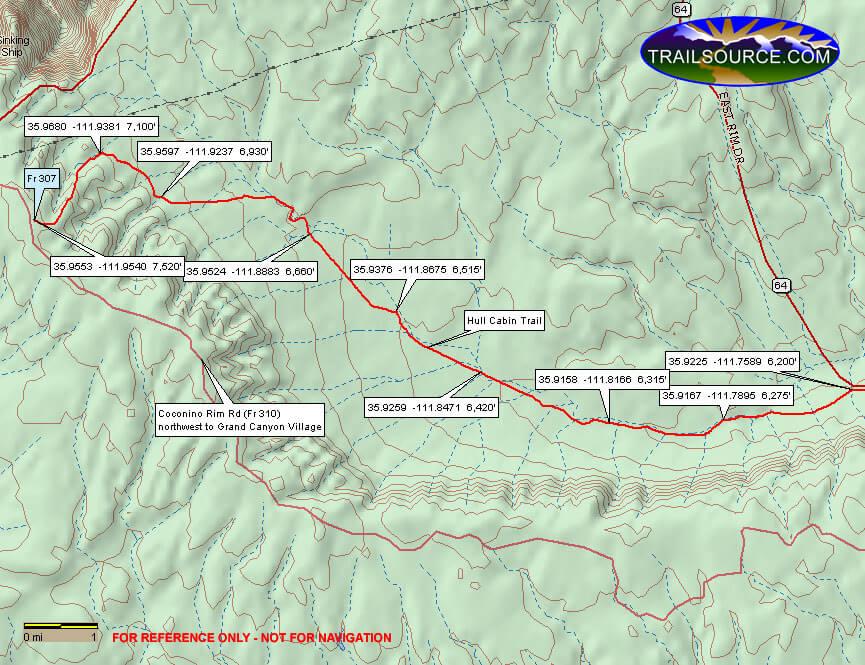 Hull Cabin Trail ATV Trails Map
