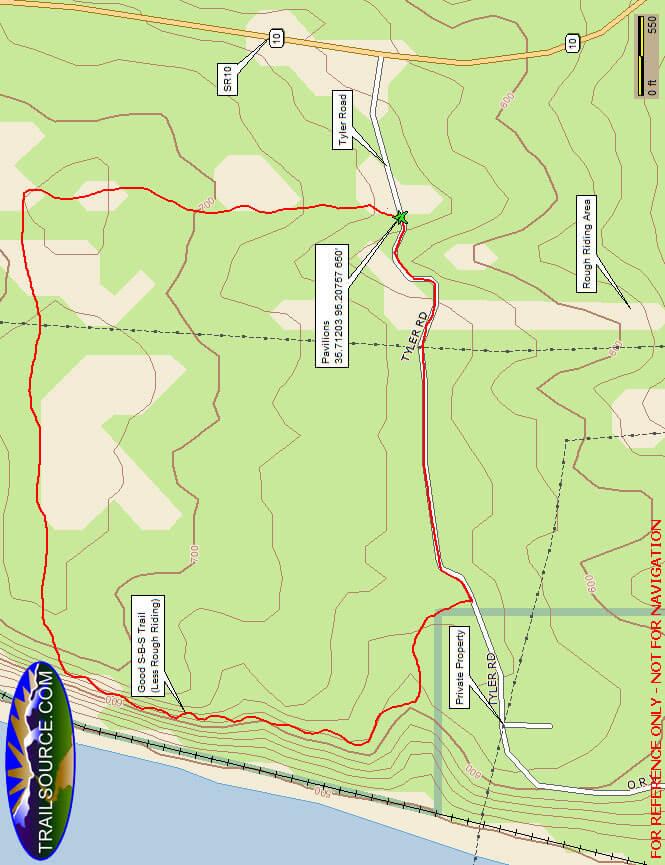 Camp Gruber ATV Park ATV Trails Map