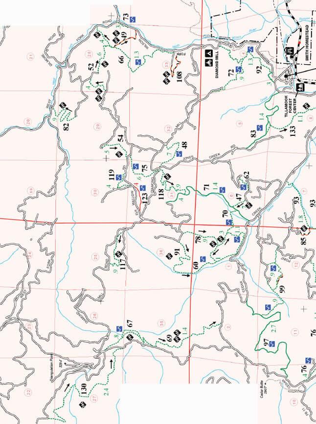 Diamond Mill OHV Area ATV Trails Map