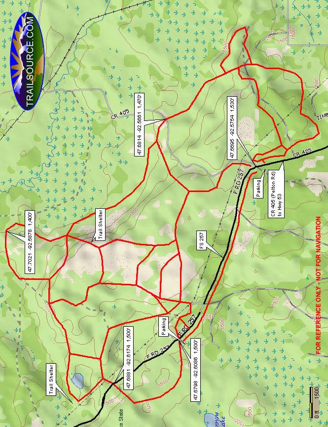 Big Aspen Trail Cross Country Skiing Map