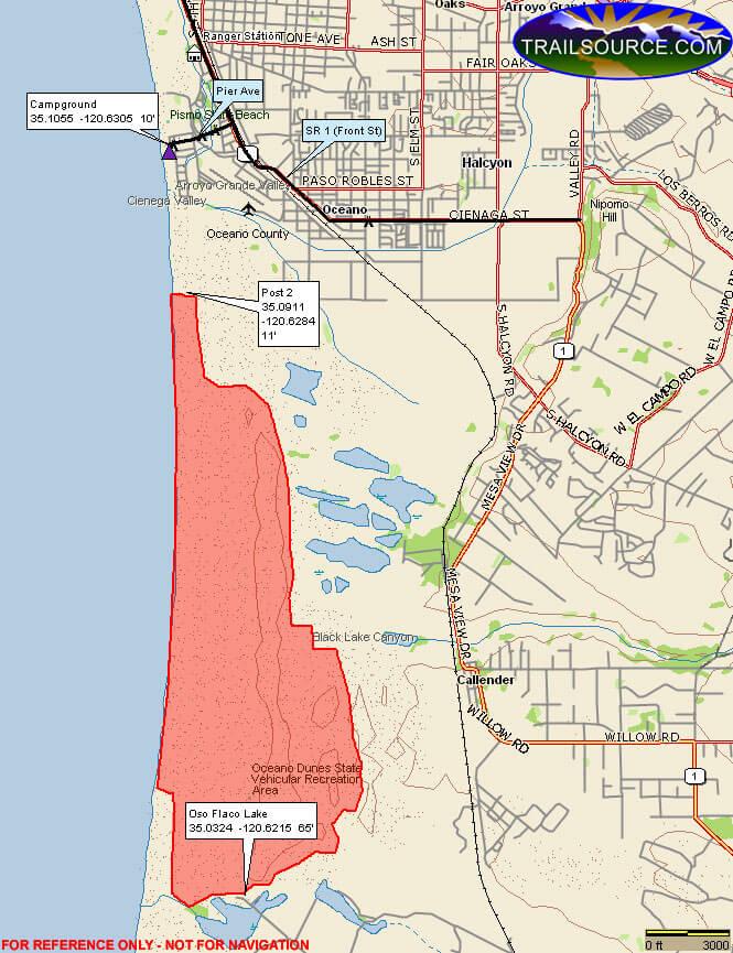 Oceano Dunes ATV Trails Map