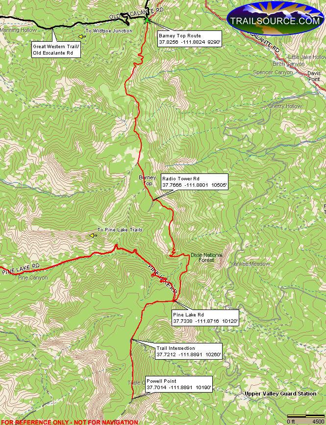 Barney Top ATV Trail ATV Trails Map