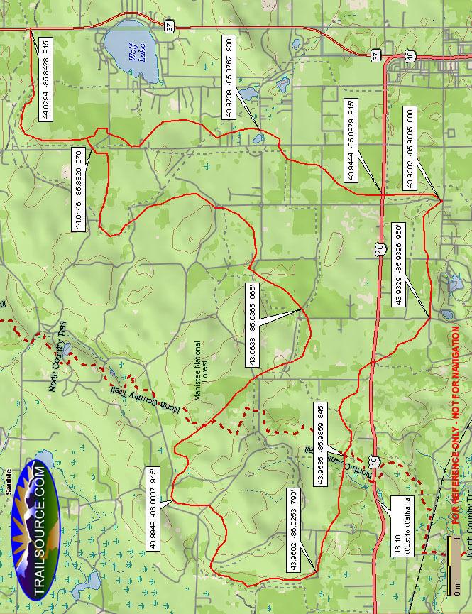 Big O Trail ATV Trails Map