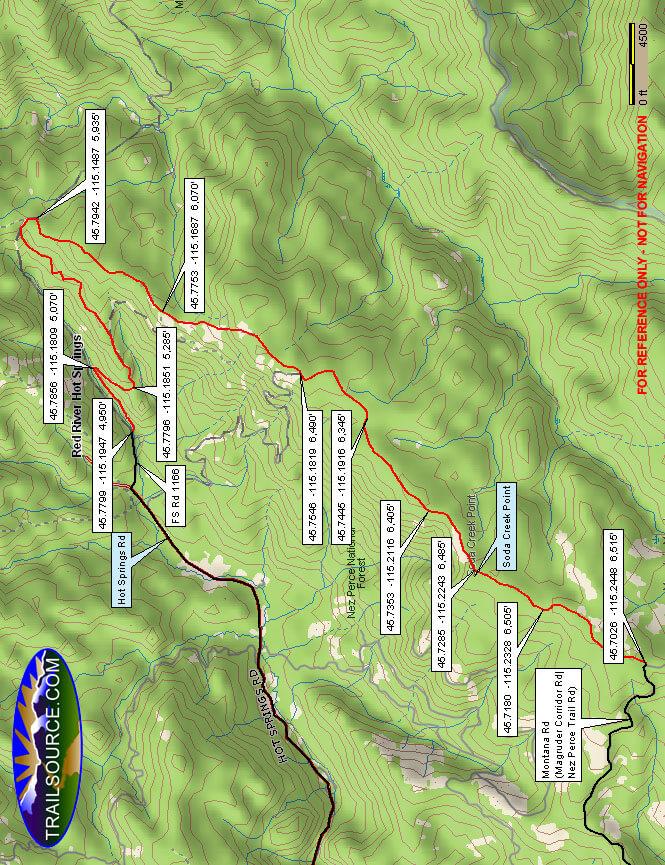 Divide Trail ATV Trails Map