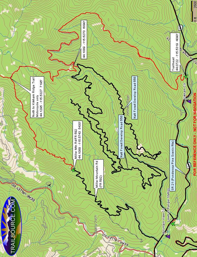 Kirkham Ridge Trail ATV Trails Map