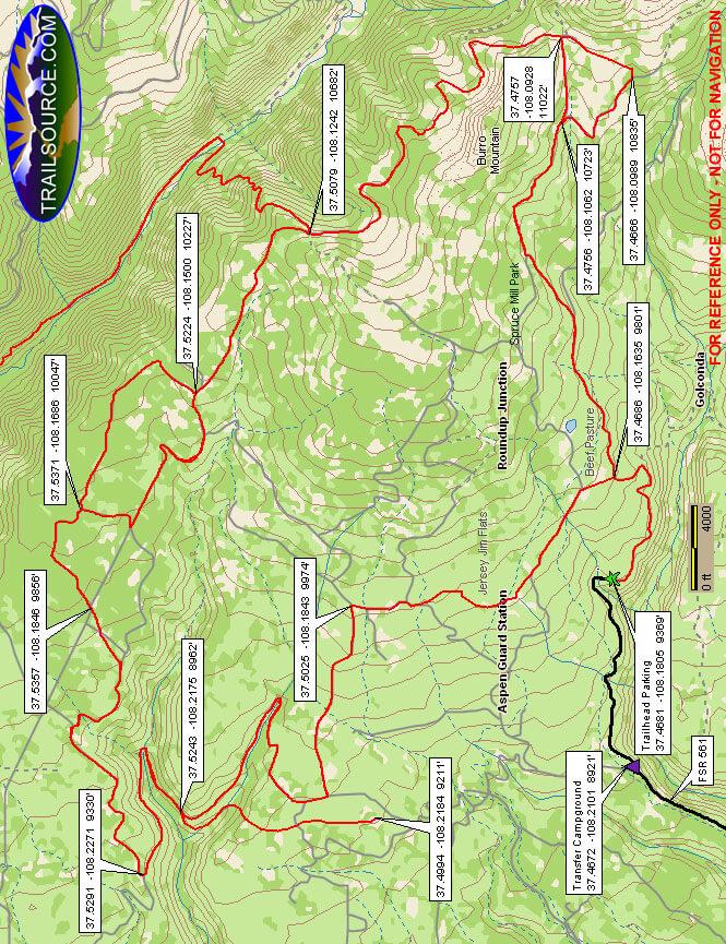 Aspen Loop ATV Trail ATV Trails Map