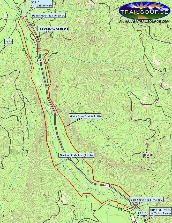 Skookum Flats Trail Hiking Map