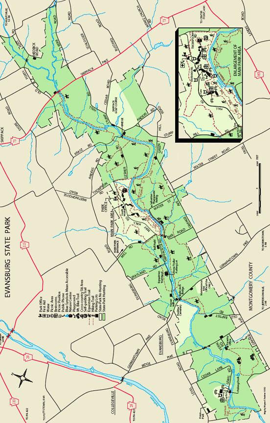 Evansburg State Park Horseback Riding Map