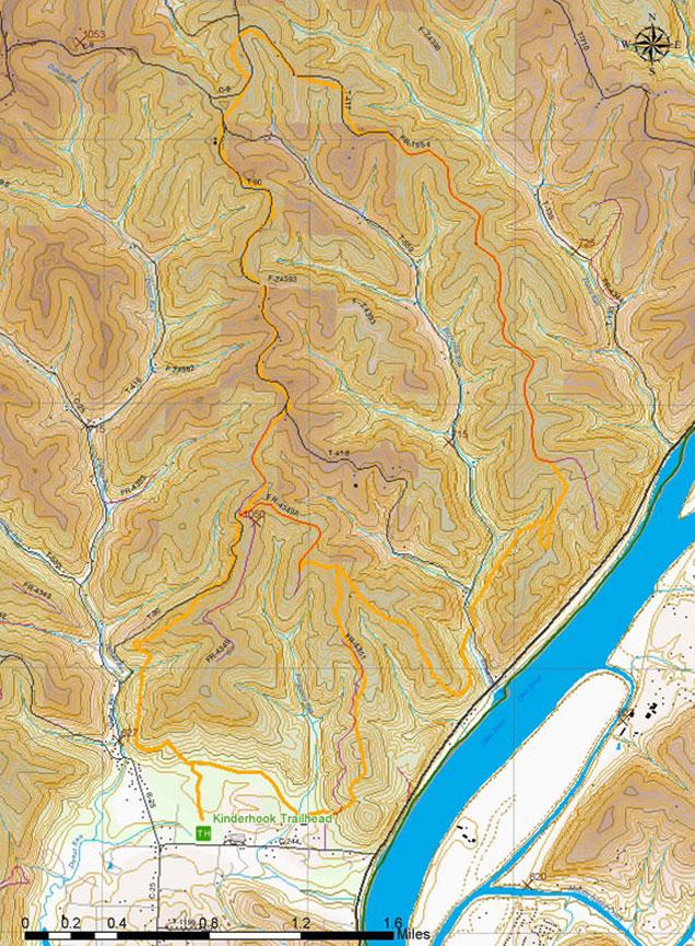 Kinderhook Horse Trail Hiking Map