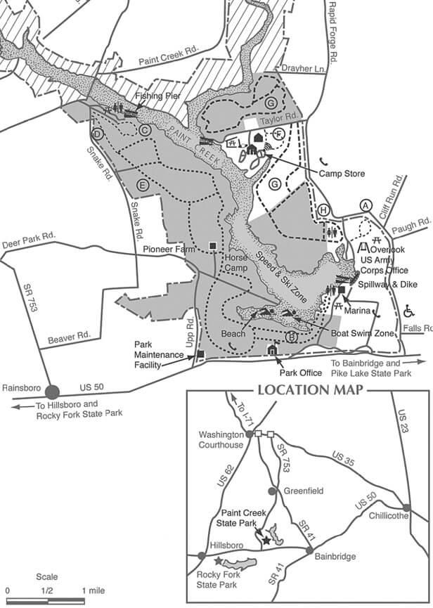 Paint Creek State Park Mountain Biking Map