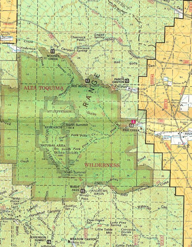 Pine Creek Trailhead Horseback Riding Map