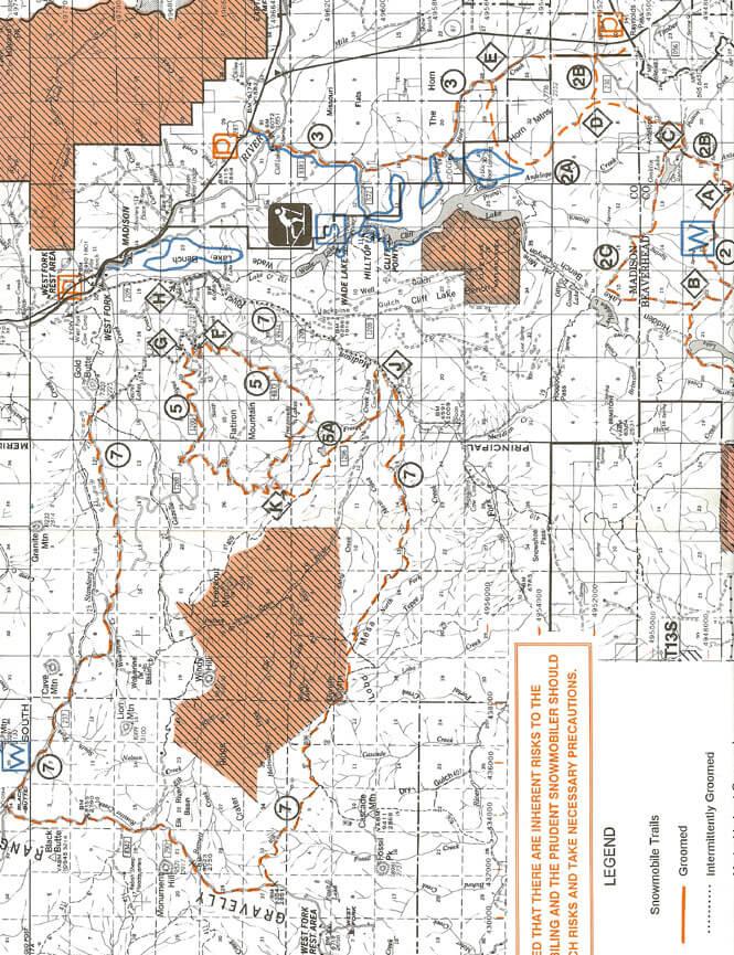 Black Butte / Lobo Mesa Loop Snowmobiling Map