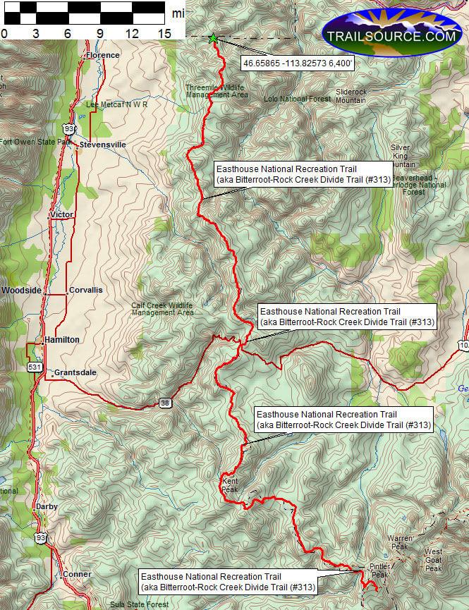 Easthouse National Recreation Trail Horseback Riding Map