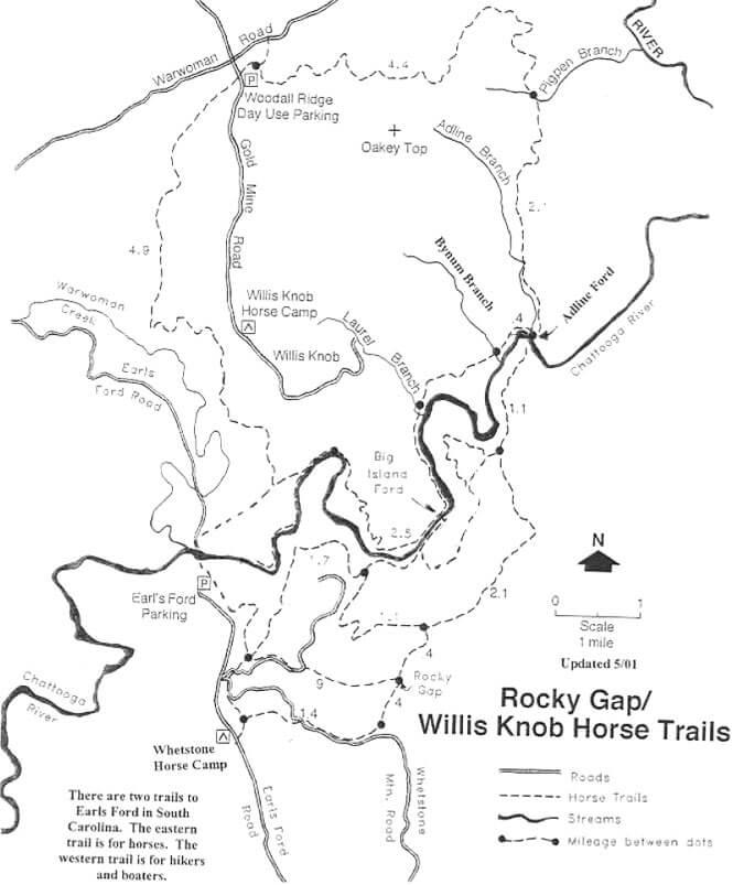 Whetstone Horse Camp Horseback Riding Map