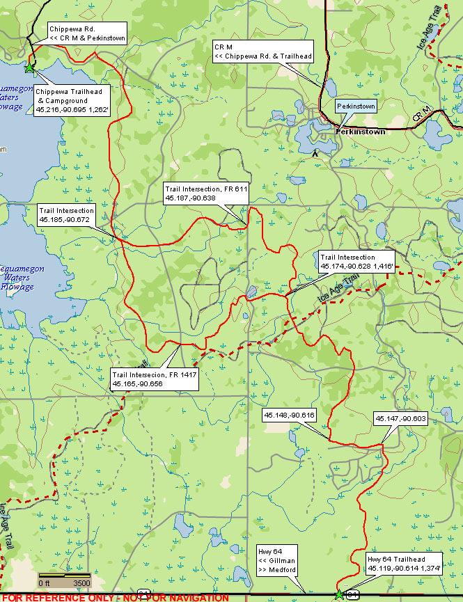Perkinstown Multi-Use Trail Horseback Riding Map
