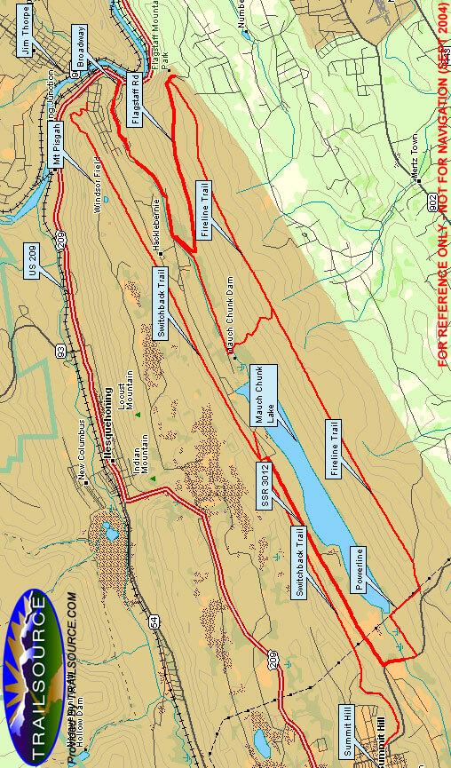 Mauch Chunk Ridge Loop Mountain Biking Map