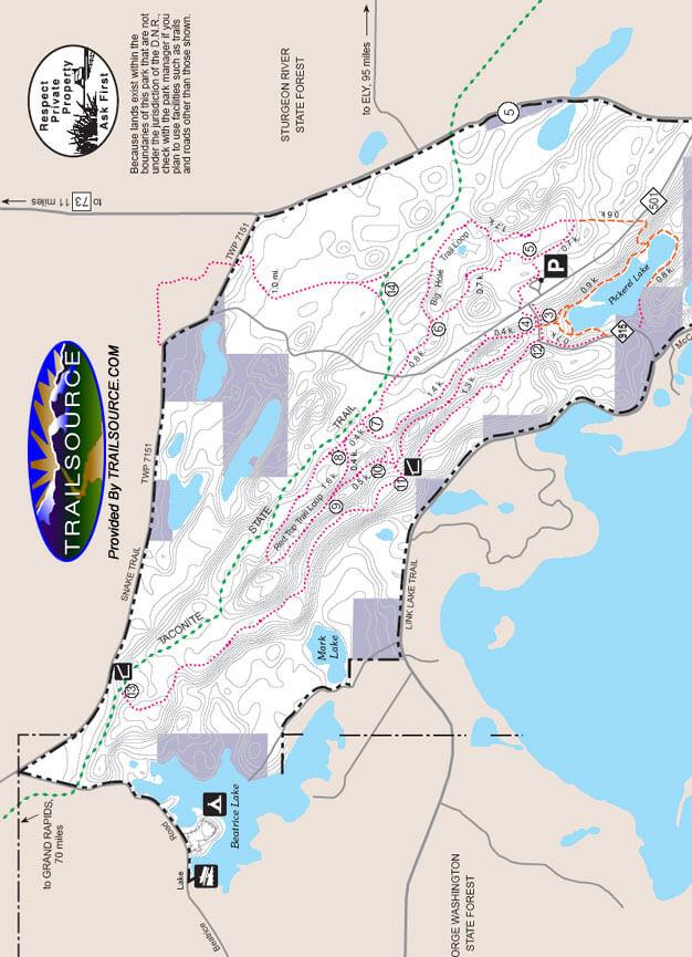 McCarthy Beach State Park Hiking Map