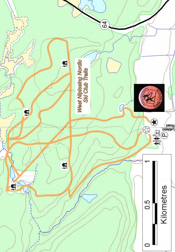 West Nipissing Nordic Ski Club Cross Country Skiing Map