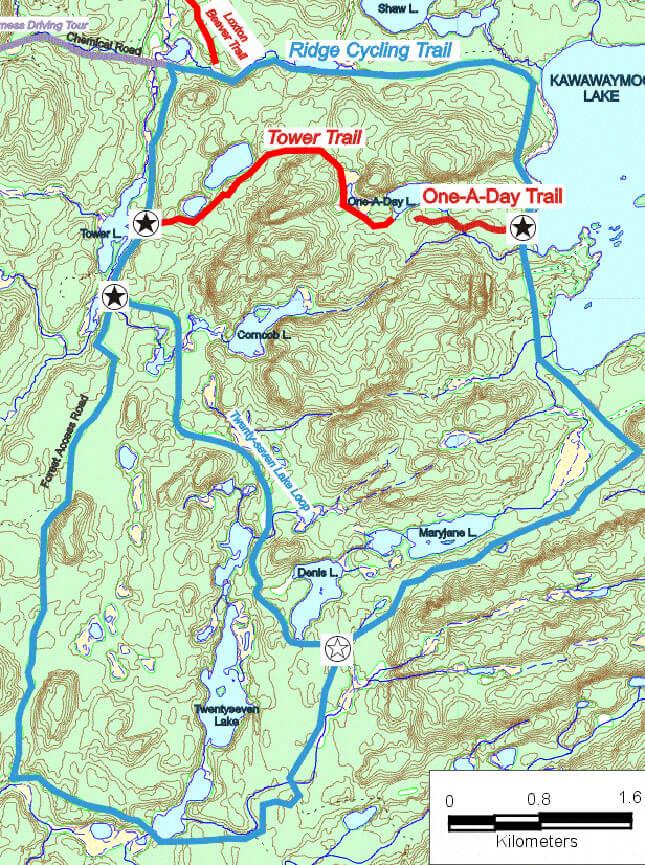 South River Forgotten Trails Mountain Biking Map