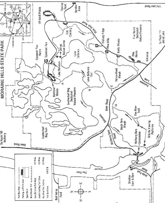 Moraine Hills State Park Mountain Biking Map