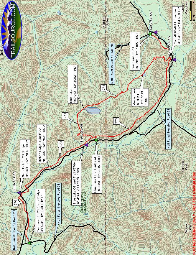 Valley Trail Horseback Riding Map
