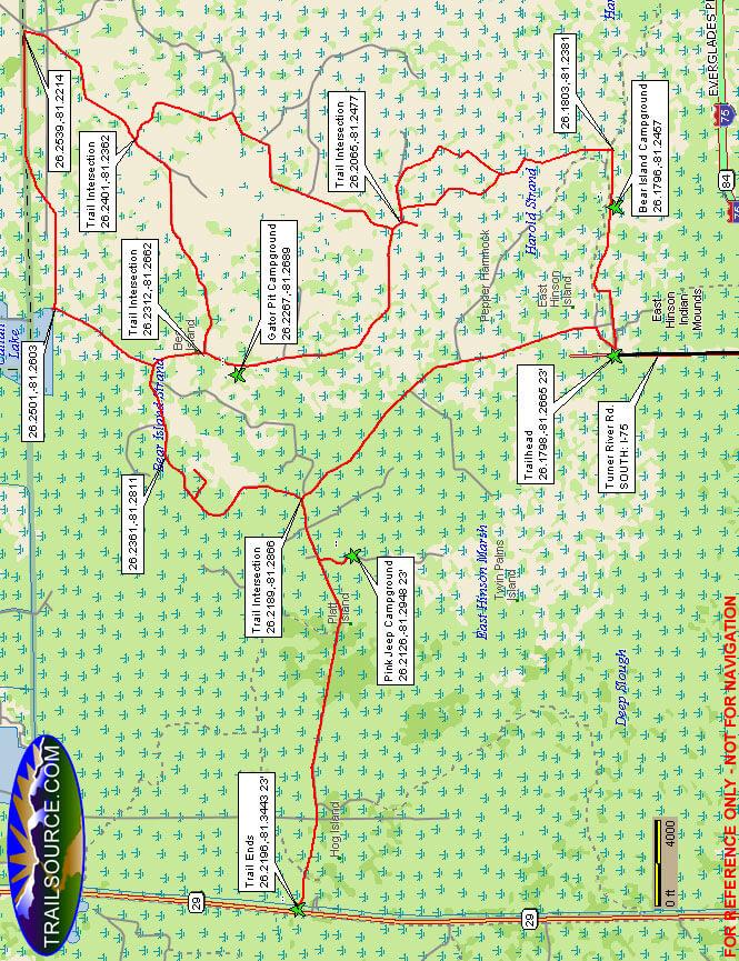 Bear Island Unit ATV Trails Map