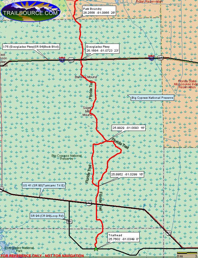 Florida Trail Hiking Map