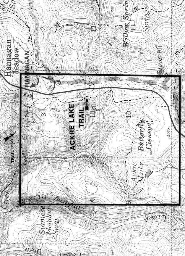 Ackre Lake Trail Hiking Map