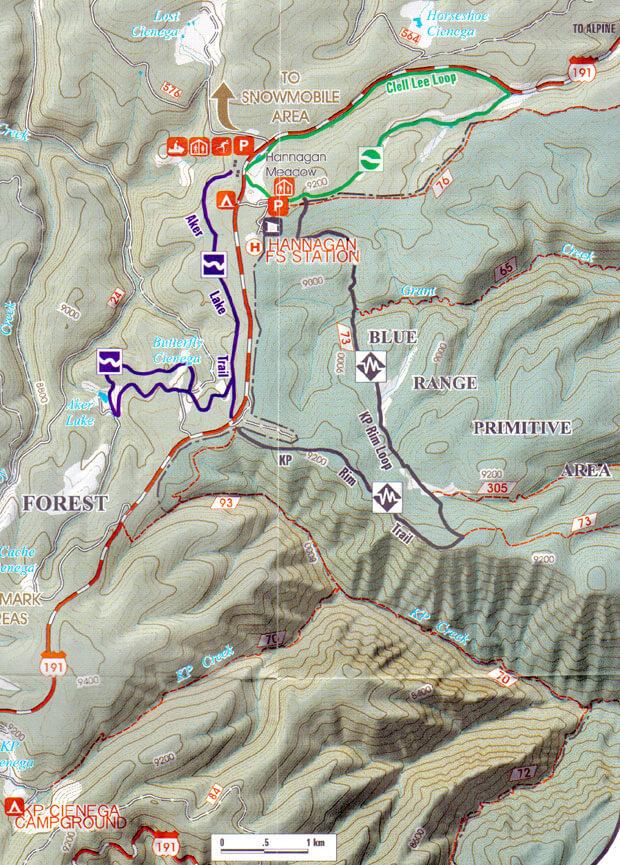 Hannagan Meadow Loop Cross Country Skiing Map