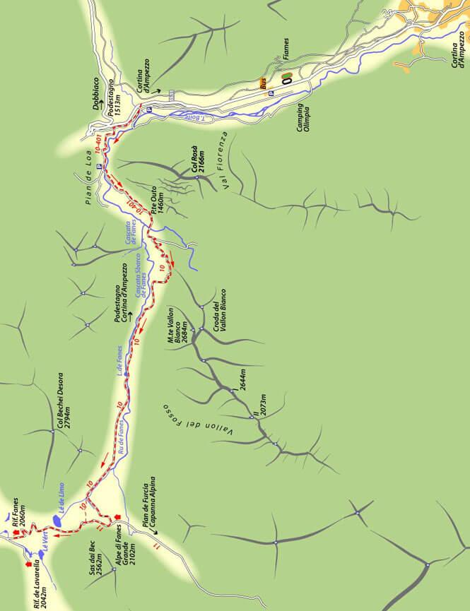 Val di Fanes Mountain Biking Map