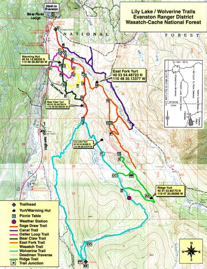 Lily Lake Trail System Mountain Biking Map