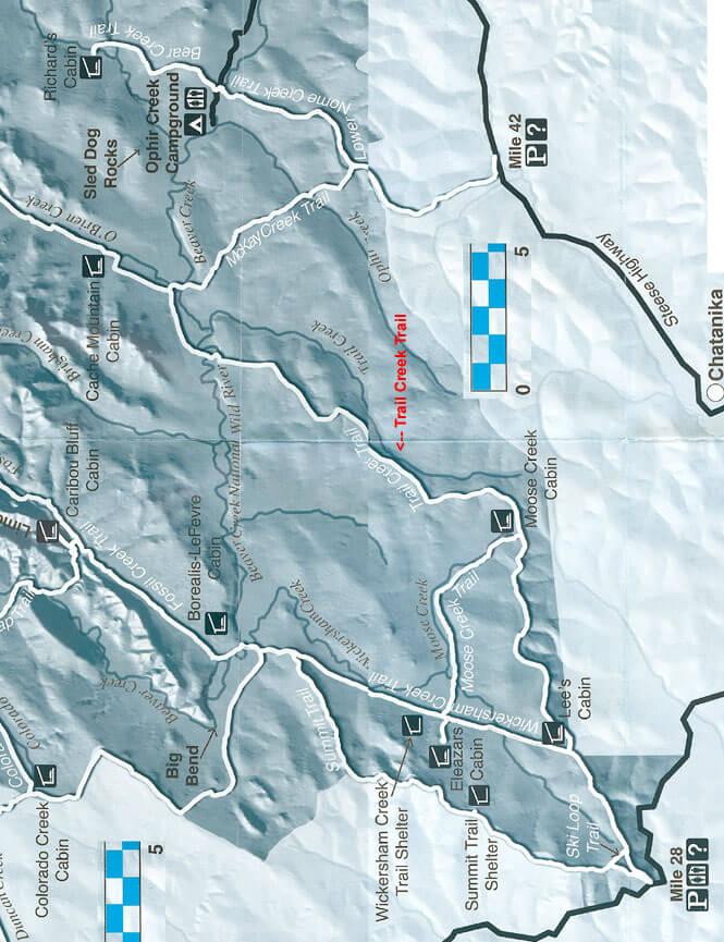 Trail Creek Trail Dirt Biking Map