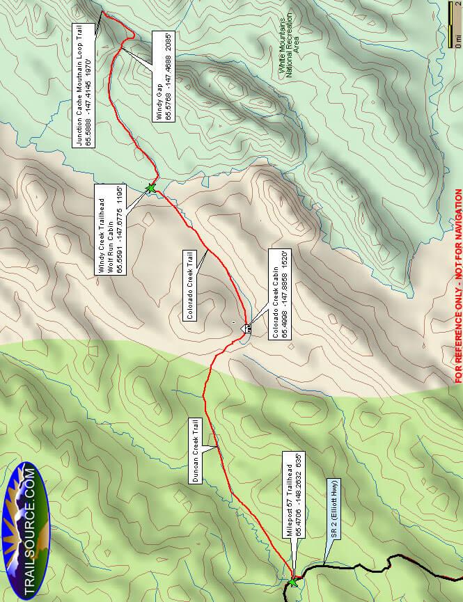 Windy Creek Trail Dirt Biking Map