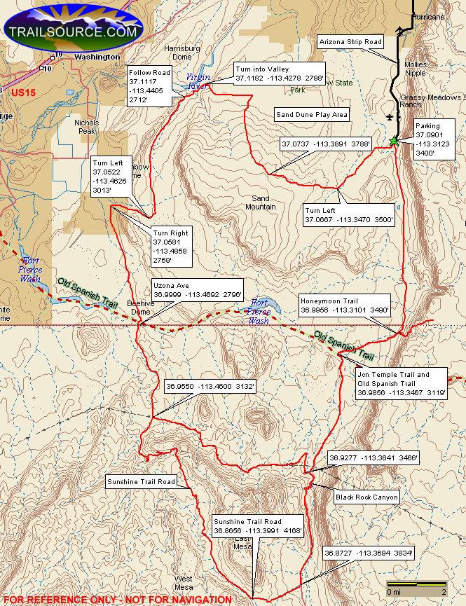 Arizona Strip Dirt Biking Map