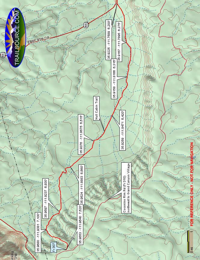 Hull Cabin ORV Trail Dirt Biking Map