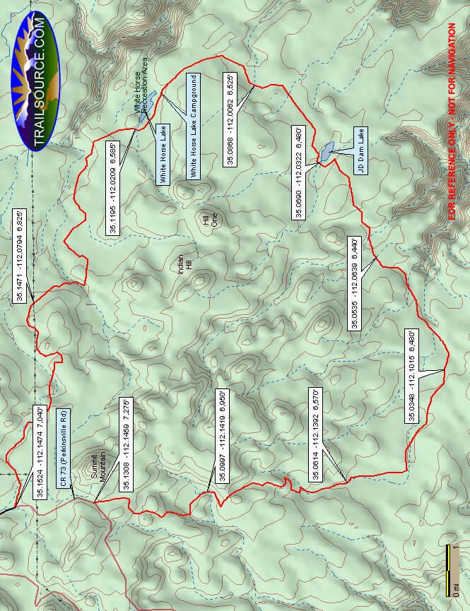 White Horse Lake ORV Loop Dirt Biking Map