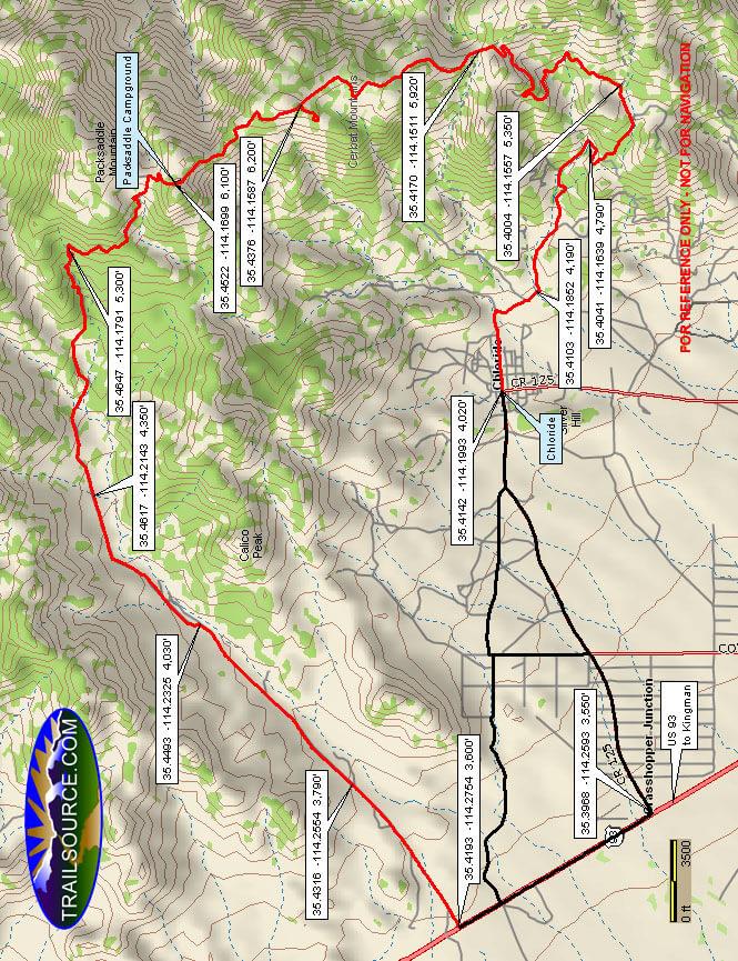 Packsaddle Mountain ORV Loop Dirt Biking Map