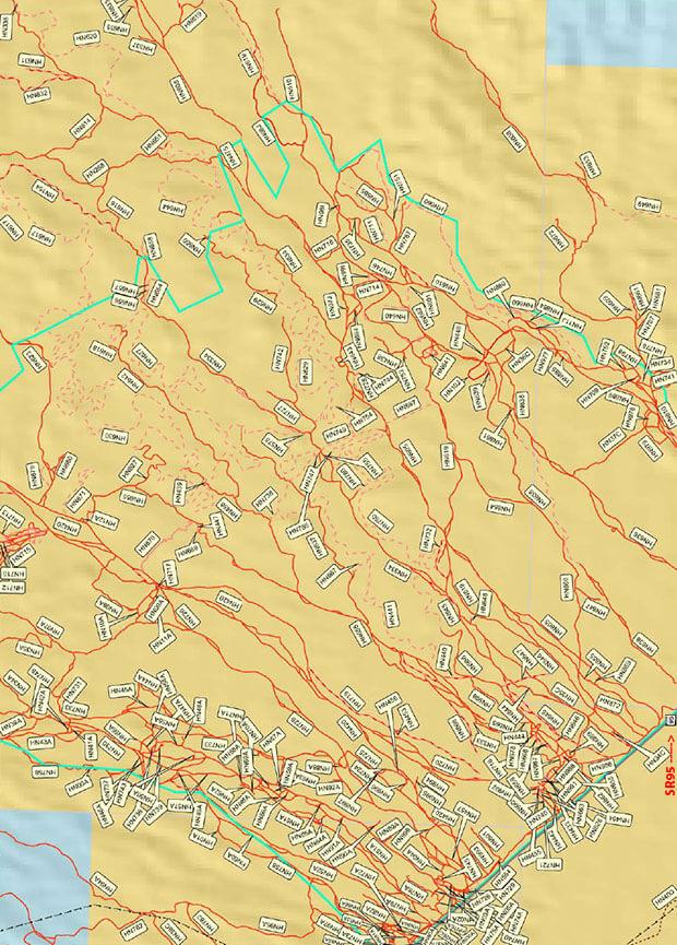 Standard Wash ORV Area Dirt Biking Map