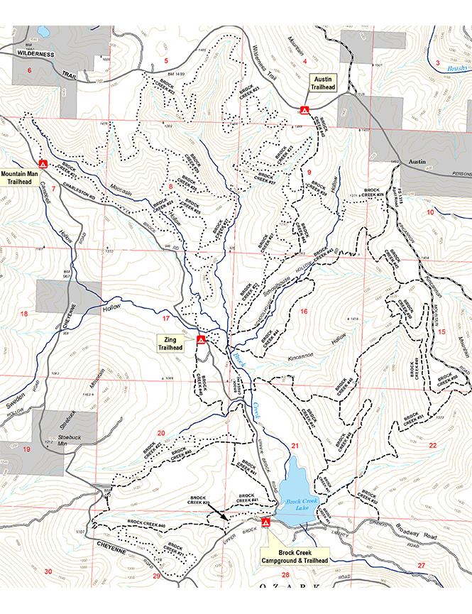 Brock Creek ORV Trails Dirt Biking Map