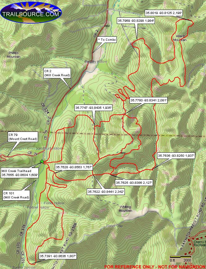 Mill Creek ORV Trail System Dirt Biking Map