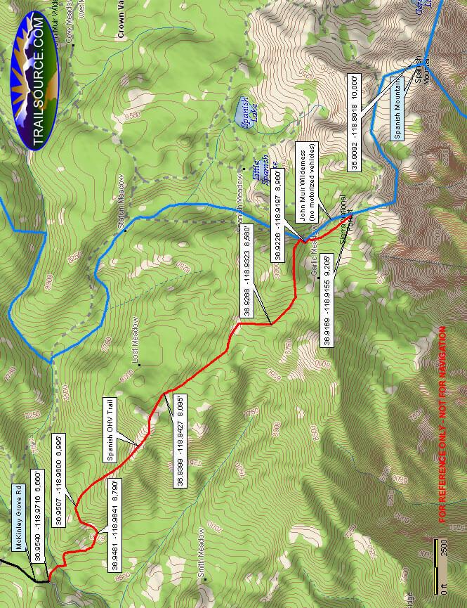 Spanish OHV Route Dirt Biking Map