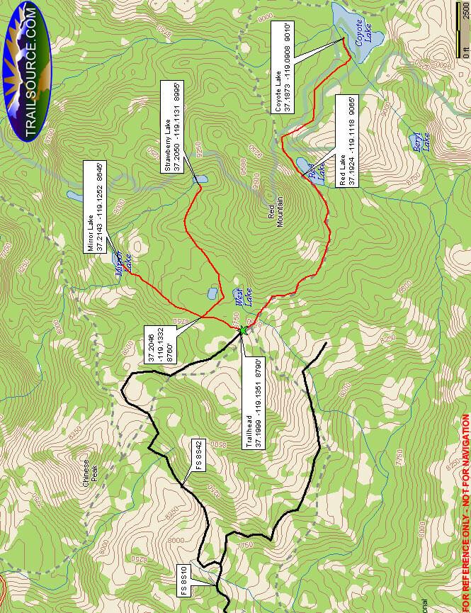 West Lake/Strawberry Lake OHV Route Dirt Biking Map