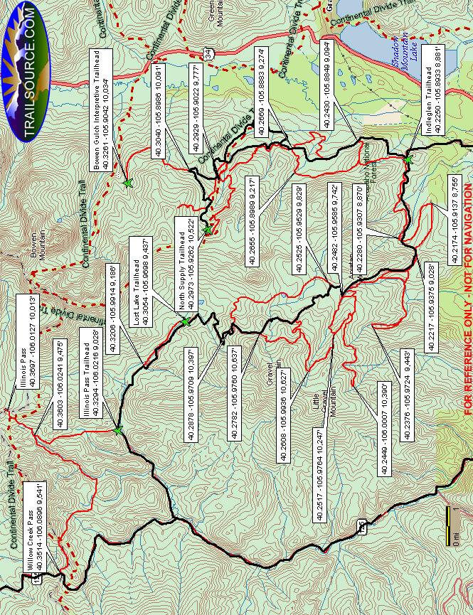 Grand Lake / Stillwater Pass Trails Dirt Biking Map