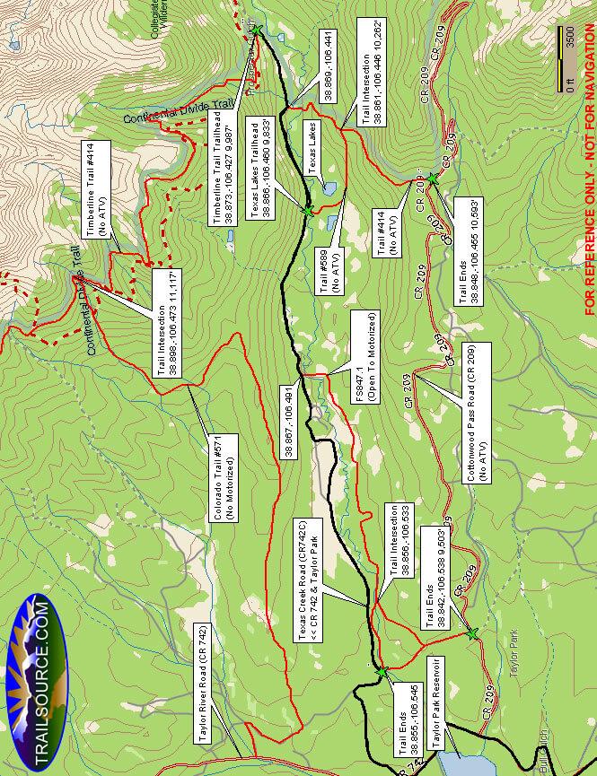 Texas Lakes Trail Dirt Biking Map