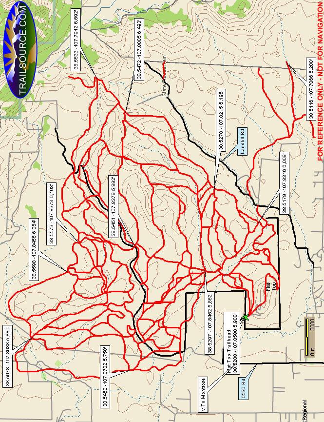 Flat Top Open Area Dirt Biking Map