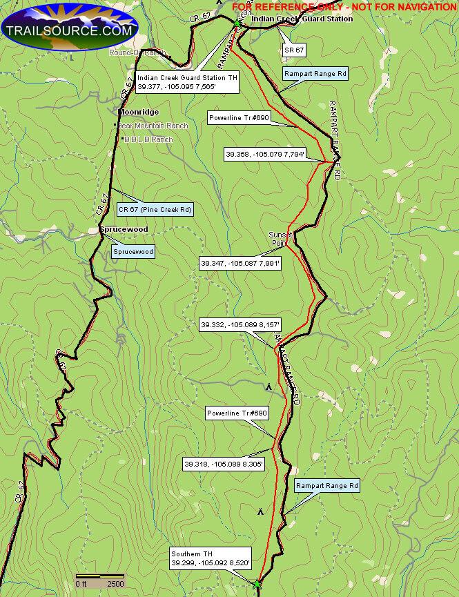 Power Line Motorized Trail Dirt Biking Map