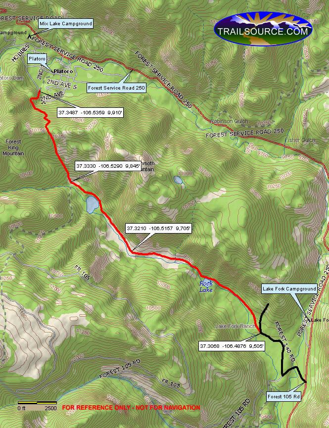 Lake Fork Trail Dirt Biking Map